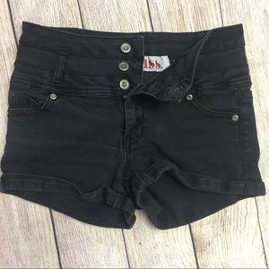 1st Kiss Black Jean Shorts Jr Size 5